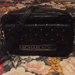 Michael Kors Kim studded black crossbody bag/purse